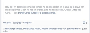Facebook mensaje